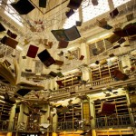 Flying Books (homage to Jorge Luis Borges by Christian Boltanski)